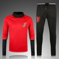 benfica clothing - 16 Benfica red sweater tracksuit set Sportswear training Suit men s Clothes Trackring suits Male Hoodies mix order