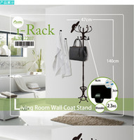 Wholesale Removable Wall Mounted Living Room Wall Coat Stand Hat Jacket Scarf Bag Holder Hanger Wall Rack