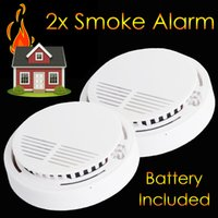 Wholesale 2x Smoke Detector Fire Alarm Ionistaion Battery Included Battery Only Wireless