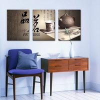 art ming - Feng Shui Wall Art Canvas Hd Print Decorative Zen Picture Chinese Tea Culture Pin Ming Set30181