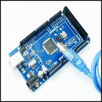 arduino mega price - Freeshipping Mega R3 Mega2560 REV3 ATmega2560 AU Board USB Cable compatible for arduino good quality low price