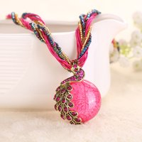 america funding - Foreign funds explosion ornaments retro ethnic style necklace factory direct jewelry trade in Europe and America peacoc