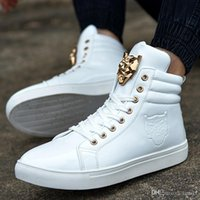 Wholesale 2016 Fashion Hip hop Mens Shoes philipp plein Casual Shoes High Top Men ankle Shoes Los Zapatos de Hombre Trainers
