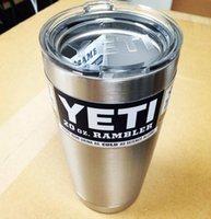 Wholesale YETI oz cup Rambler Tumbler cup Beer Mug travel cup Cooler YETI Cup Vehicle Beer Mug Stainless Steel Tumbler Cups KKA362