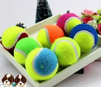best selling pet supplies - Best Pet Dog Chew Toys Tennis Ball Rubber Polychromatic Outdoor Activity Training Ball Dog Toys Supplies Hot Selling