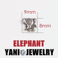 antique elephants - 9 mm Antique Silver Plated Elephant Charms Pendants Alloy Floating Locket Charms for Bracelet DIY Glass Locket Necklaces