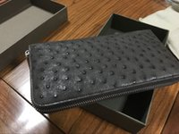 authentic ostrich handbags - Men s long ostrich leather handbag purse Authentic ostrich skin fake a lost one hundred Fashion handsome