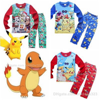 baby clothes snow - Kids Pajamas poke Sets Cotton Cartoon Long sleeve Tops pants Homewear Suit paw patrol Snow Slide Clothes Children Baby Boys Girls Clothing