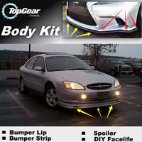 Wholesale For Ford Taurus Front Bumper Lip Lips Skirt Deflector Spoiler For Car Tuning The Stig Recommend Body Kit Strip
