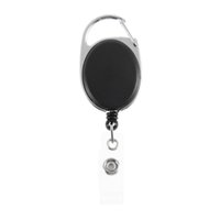 Wholesale 1pc New fashion Retractable Pull Key Ring Chain Reel ID Lanyard Name Tag Card Badge Holder Reel Recoil Belt Key Ring Clip