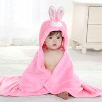baby dry suit - 2 Color Supper Soft Velvet Cute Animal Shape Cartoon Baby Kids Hooded Bath Towel Toddler Boy Girls Bathrobe Suit all Seasons