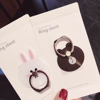 bearing mount - Korean Cutie Line Friends Brown Bear Cony Rabbit Ring Universal Mobile Phone Holder Finger Grip Stand Mount Stent