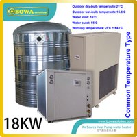 air energy heat pumps - 18KW air source heat pump water heater using copland scroll compressor suitable for flooring heating system for saving energy