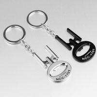 alloy enterprises - NEW Arrival Star wars Bottle Opener Keychains USS Enterprise NCC Metal Alloy silver black keyring chain for fans souvenirs