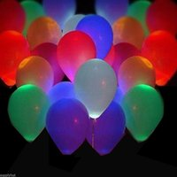 Wholesale 50pcs inches RGB LED Hellium Air Mixed Colors Balloons Wedding Light Up Decoration Party Wedding Deco