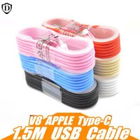 Wholesale Type C Cable M Colorful Nylon Data Line Metal Plug Micro USB Cable Device Charging Data Transfer For iPhone plus