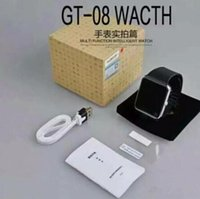 Wholesale Top Quality Android Apple iwatch A8 GT08 Smart SIM Intelligent mobile phone watch can be time record the sleep state GT08 Smartwatch