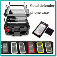 aluminum shocks - Hot selling Waterproof Metal Case Hard Aluminum Dirt Shock Proof Mobile Cell Phone Cases Cover for iphone4 s c s iphone plus