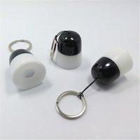 La venta caliente del precio de fábrica LED de 2 vías se enciende linterna portable de aluminio de los keychains de los mini LED para los regalos promocionales, antorcha del LED con el anillo dominante