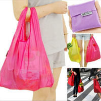 best travel totes - Convenient Fashion environmental protection Reusable Folding Shopping Bag Travel Pouch Grocery Receive storage Bags Tote best gift