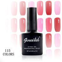 Wholesale ml Nail Gel Polish Long lasting UV Gel Top Base Coat Soak Off Nail Art Gel Lacquer Led Gelish Polish