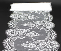 Wholesale 33 cm Wedding Lace Table Runners Chair Sashes bow Table cloths Lace Trim Ribbon DIY lace fabric for apparel accessories Table Skirt2016