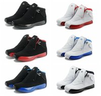 Cheap cheap high quality retro 18 VIIIX men basketball shoes blue black trainers sport sneakers boots for sale us size 8-13 free shipping