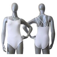 Wholesale Ladies Camisoles Colors - Cotton Lycra Double Straps Crisscross Back Camisole Leotard for Girls Ballet Dancing and Ladies Bodysuit Full Sizes 16 Colors Available