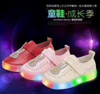 air star lighting - 2016 Shining star Children Led Shoes Fashion Kids Led Luminous Sneakers High Quality USB Charging Boys Girls Lighted Sport Shoes