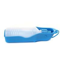 250ml Chien Chat Feeding Portable et guéables Bouteille d'eau potable de haute qualité en plastique Chiens Voyage extérieure Boire de l'eau Bowl