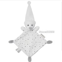 bear comforter - Bear Baby Comforter Toy Cute Cartoon Animal Soft Plush Multifunctional Saliva Towel To Appease The Toy A Molar Tooth Baby Care