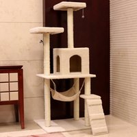 Wholesale cat tree high quanlity kitty tree hot sale cat toys kitty toys cat climbing frame cat scratch board free shopping