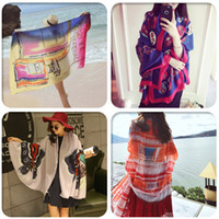 Wholesale SALE Fashion pareo sarong blanket scarves Shawls Scarves Wraps Printed scarf fringe shawls scarves beach towel
