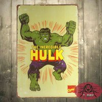 Wholesale Incredible Hulk Marvel Comics Distressed Retro Vintage Tin Sign New inch