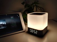 alarm switch box - Durable Hifi Wireless Mini Bluetooth Music Speaker with Alarm Clock Touch Switch LED Night light TF Card Audio Microphone DY28 With Box