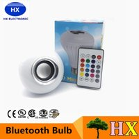 audio keys - Hot Wireless Bluetooth W LED Speaker Bulb Audio Speaker LED Music Playing Lighting With Keys E27 Remote Control