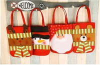 Cheap Indoor Christmas Decoration Snowman Santa Claus gift bag Best Cloth None gift bag Children Christmas