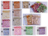 Wholesale 100pcs cm Jewelry Gift Organza Bag Wedding Favor Pouch mm Wide Ribbon Drawstring Color Choice