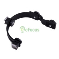 Cheap C-Shape 2 Hot Shoe Dual Bracket Stand for LED Video Light Flash Camcorder Camera #32284 shoe camera