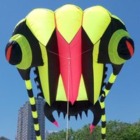 Wholesale 3D Sqm Line yellow Stunt Parafoil Trilobites POWER Sport Kite outdoor toy XL