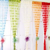 Wholesale Heart String Curtain Window Door Balcony Home Decoration Decorative Curtain for Living Room Bedroom