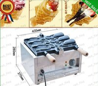 Wholesale 110V V Japanses open mouth taiyaki machine electric fish shaped cake machine ice cream taiyaki maker LLFA66