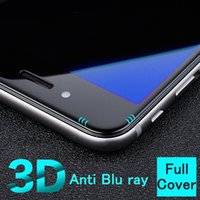 anti finger print - 3D full cover Anti Blue Light Blu ray finger print Filtering eyes care Tempered Glass Screen Protector film for iphone s plus