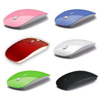 Wholesale 2016 Newest High quality Portable Ultra Thin Mouse for Laptops Optical Wireless Mouse G Receiver Super Slim Mouse Canday Color
