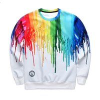 american football time - 2016 new Women s suit Rainbow D print tracksuits Pigment Watercolor adventure time funny hoodies men coat brand harajuku tops