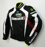 Wholesale New arrival men jacket KAWASAKI winter automobile race clothing motorcycle clothing thermal removable liner flanchard