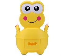 Wholesale Fashion Cute Frog Cartoon Baby Toilet Potty Seats Infant Portable Toilet Unisex Lovely Drawer Training Potty T7013