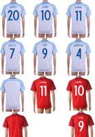 2016 Euro Fútbol Local Visitante camisas Tailandia maillot de fútbol Henderson Walcott Kane Rooney Sterling Barkley