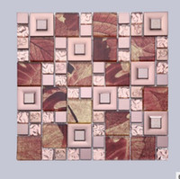 Wholesale New red maple leaf mosaic background wall European style modern background tile mosaic factory direct sales D