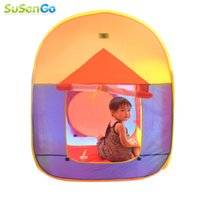 Cheap Wholesale-Colorful Play Casa Tent Children Beach Play House Indoor & Outdoor Toys Multi-Function Baby Foldable Kids House with Window